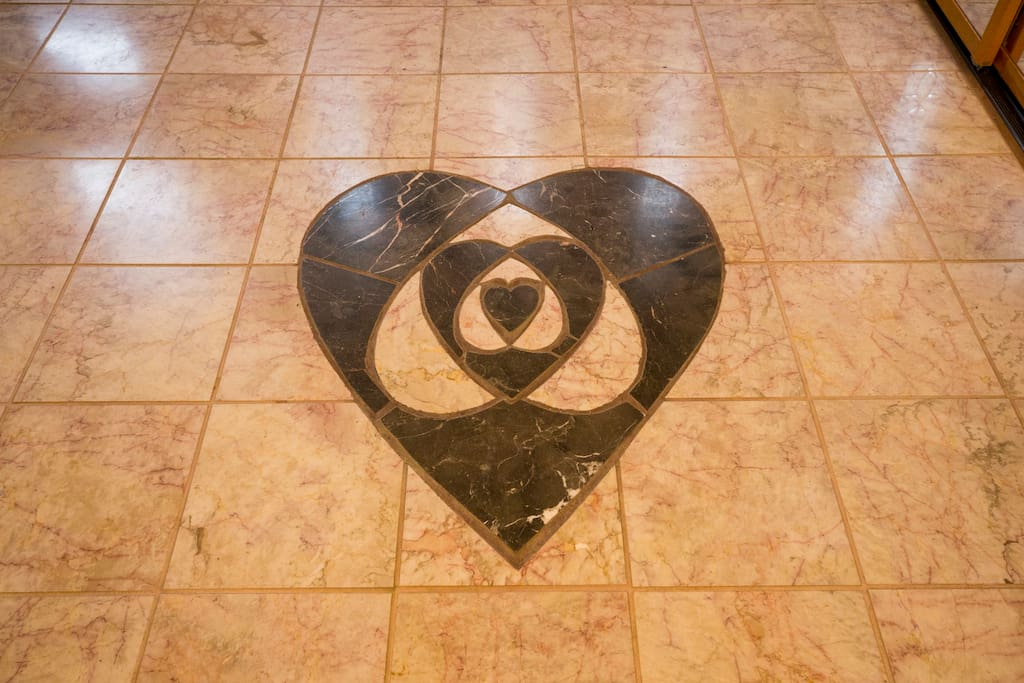 """Marble mosaic heart: """"Home is where the Heart is"""""""