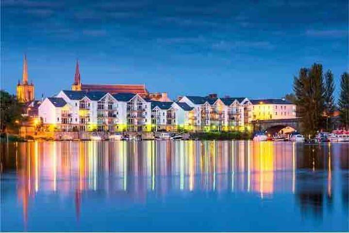 Luxury Waterfront Apartment in Enniskillen town.