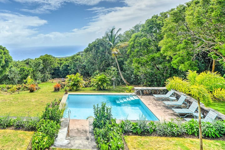 Nevis Home w/ Pool, Stunning Jungle & Ocean Views!