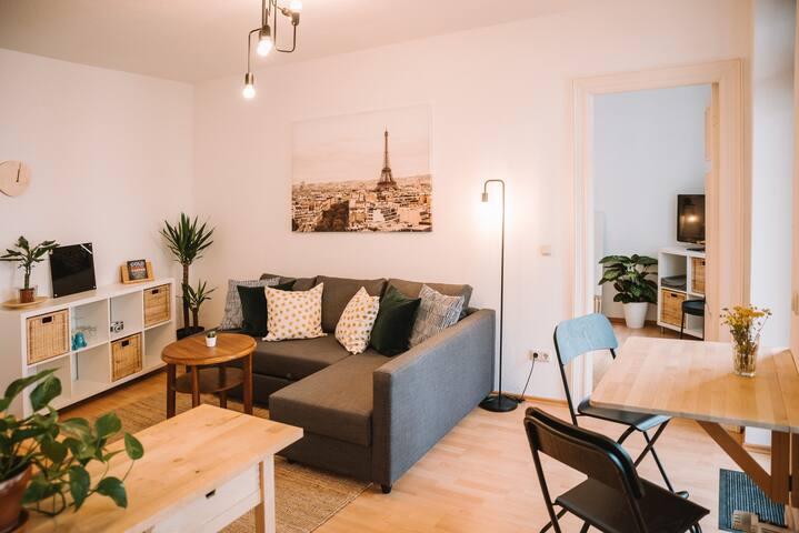 Gemütliche Wohnung im Zentrum mit Balkon