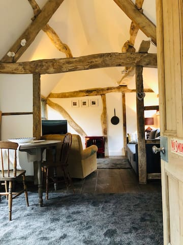 Character barn in the heart of a Cotswold village