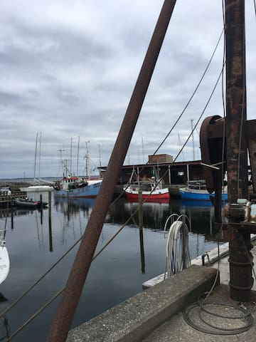 Nyd Lundeborghus v/havn og strand tæt på Svendborg
