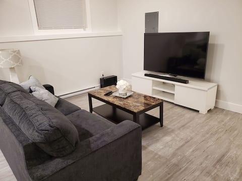 Private 2 bed suite in quiet new neighborhood!