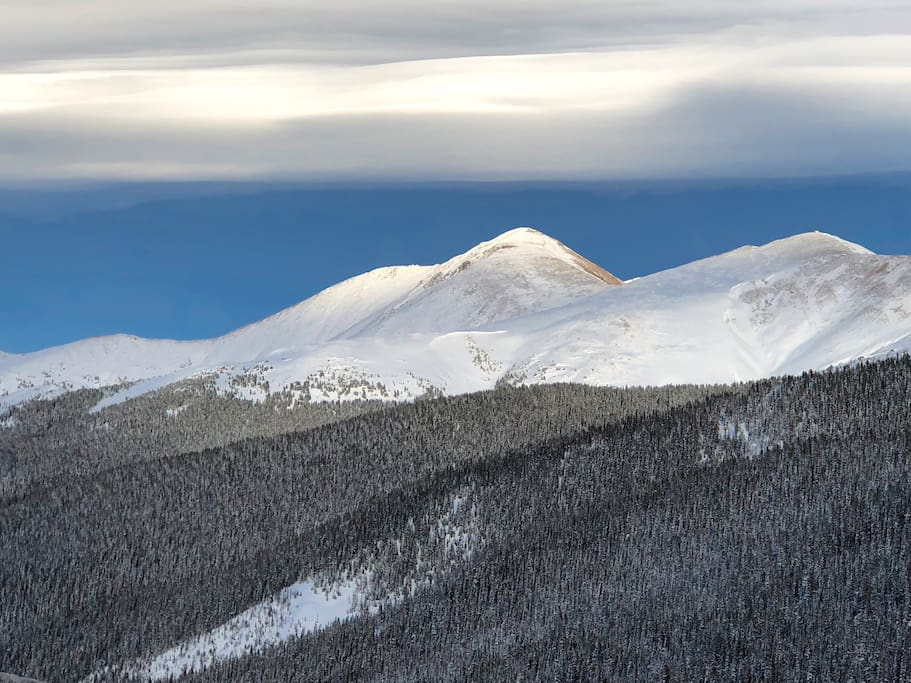 Beautiful mountain sight above Winter Park.