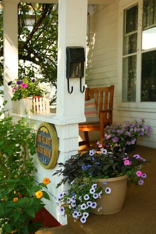 Our sunny front porch is the perfect place to start and end your day.
