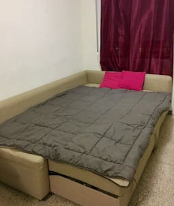 Comfortable sofa bed with two seats - Madrid