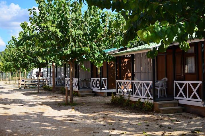 Mini - Cabaña de Madera con Piscina