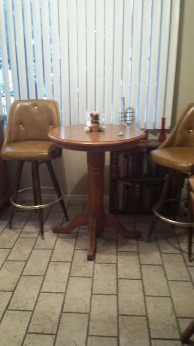 Cosi table in kitchen area with 2 seats