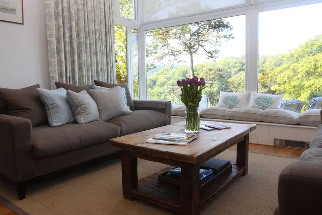 Comfy sofas in sitting room