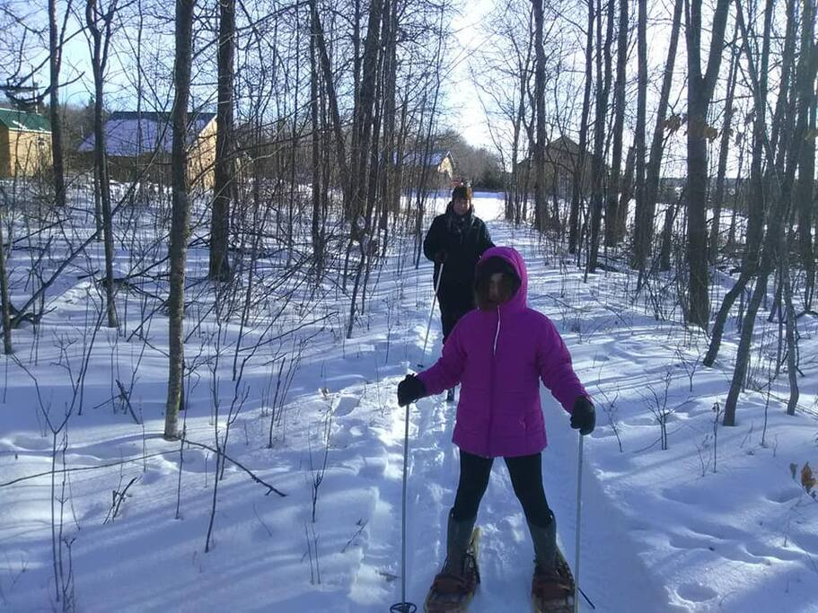 Skiing and snowshoeing trails