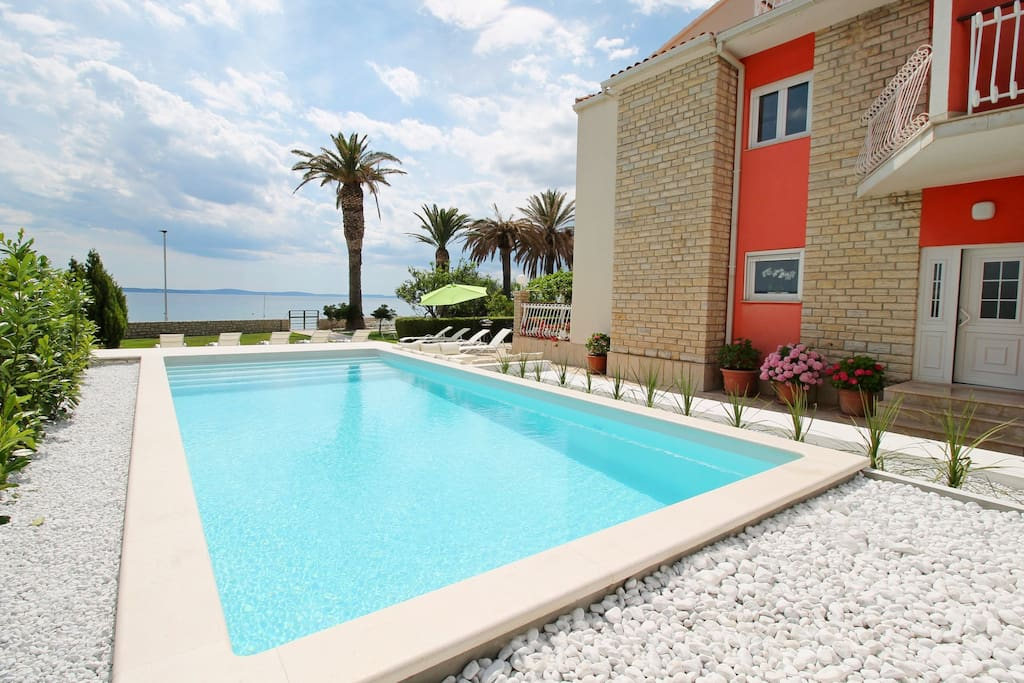 The beach villa AMOR with a private 36m2 swimming pool and 7 bedrooms