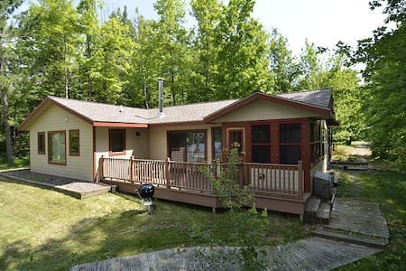 Ranch Style home with private dock in Hayward WI
