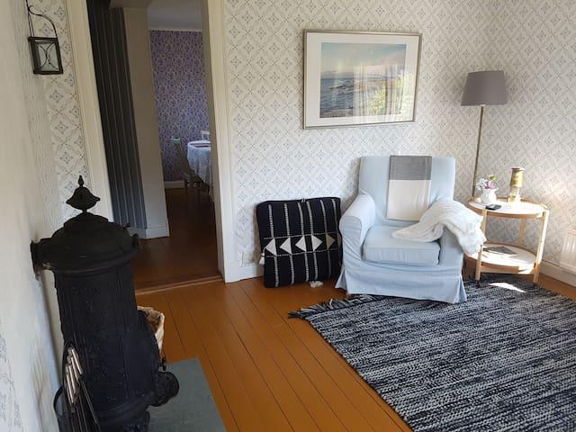 Fireplace in living room, 1st floor