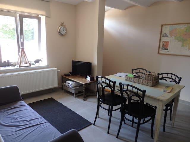 Eet- en zitplaats met de hal rechts - dining room & seating area with the hallway at the right