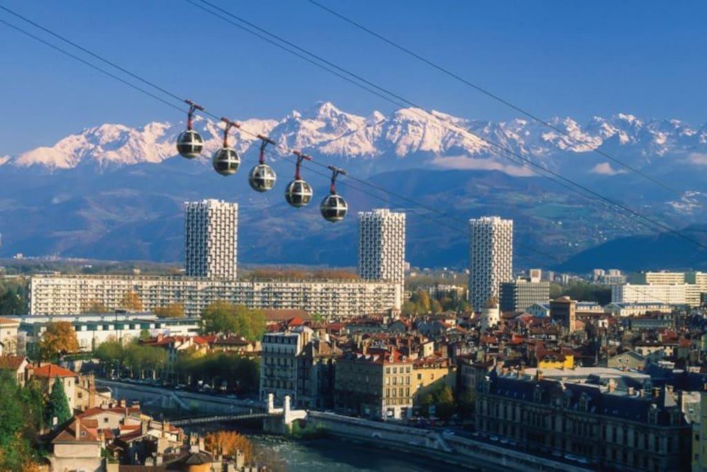 Le telepherique de la Bastille de Grenoble