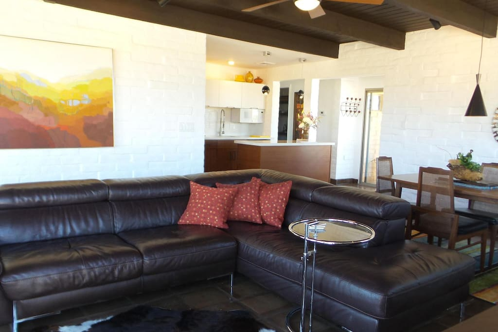 Living Room with kitchen and dining area beyond.