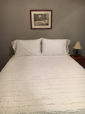Brand new queen size beds in each bedroom