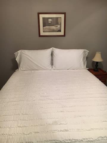 Brand new queen size beds in each bedroom