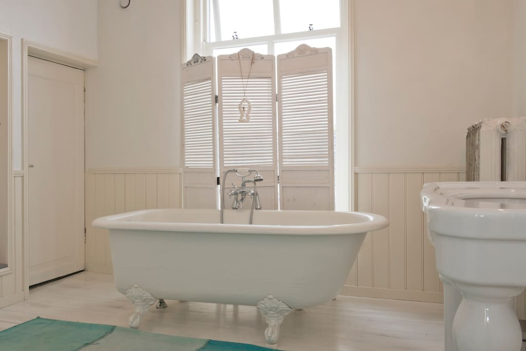 With a beautiful (sometimes shared!) bathroom ensuite.