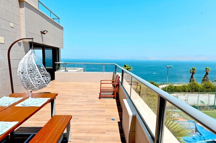 ☀Galilee Triple Terrace 180°Overlooking Sea View☀