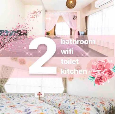 3F★2 bath room★2 wifi★USJ・Kaiyukan★Dotonbori★Namba