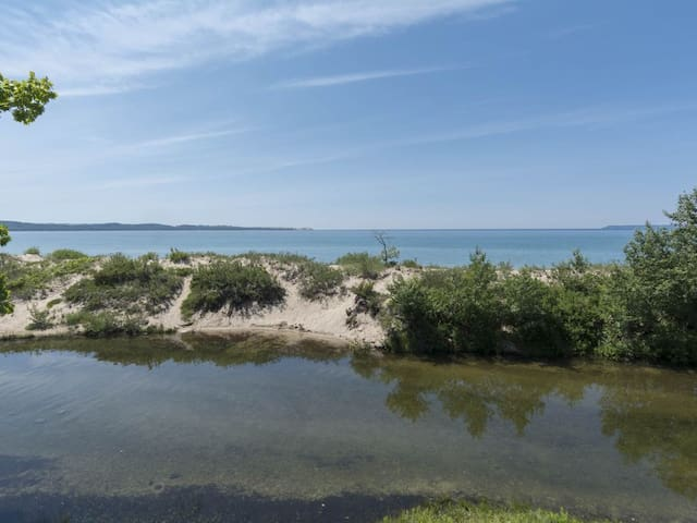 Sleeping Bear Beachfront with Incredible Bay Views