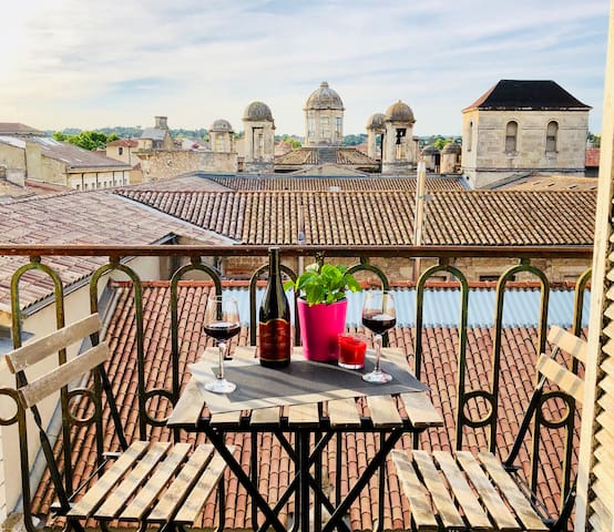 Sur les toits de Nîmes *