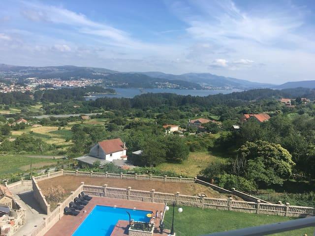 Apartamento en entorno natural. Vistas ría de Vigo