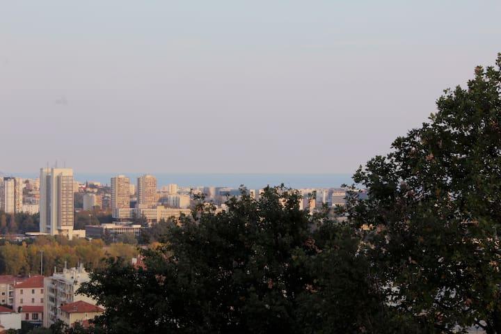 Chambre avec vue * Saint Laurent du Var