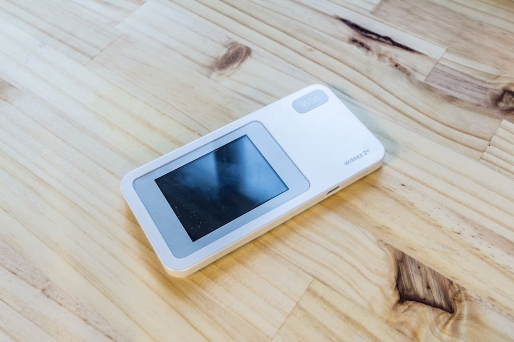 Pocket wifi for guests to use inside the apartment as well as outside