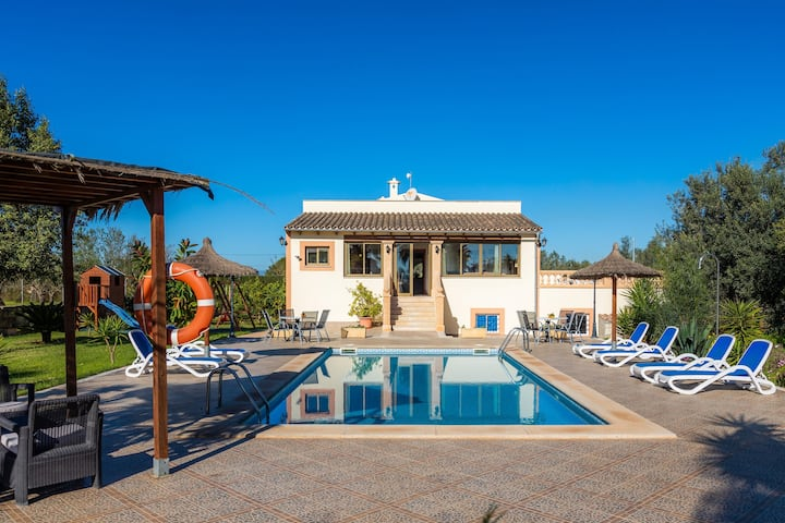 Beautiful Finca Can Nofre with Wi-Fi, Pool, Balcony, Garden & Terrace; Parking Available