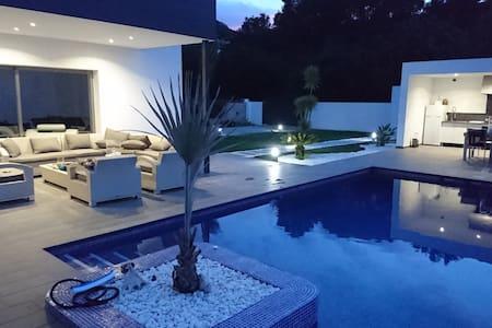Chambres en Gite dans villa moderne 10 min plages - Dénia - Bed & Breakfast