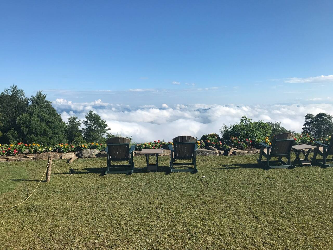Enjoy a morning above the clouds