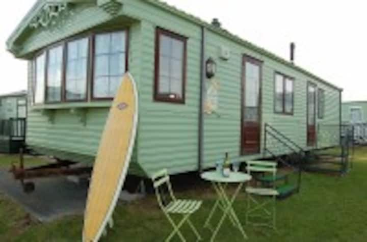 CARAVAN 109 on BEACH in TYWYN @ NEPTUNE HALL