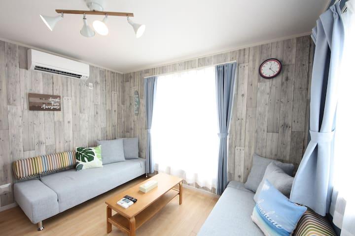 68 Nago Luxury Villa/Sea nearby/100㎡4BR/BBQ/