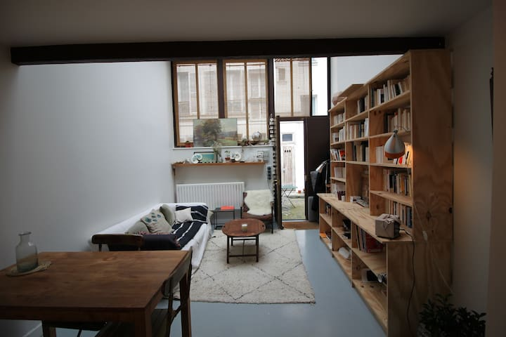Artist's studio converted into charming apartment