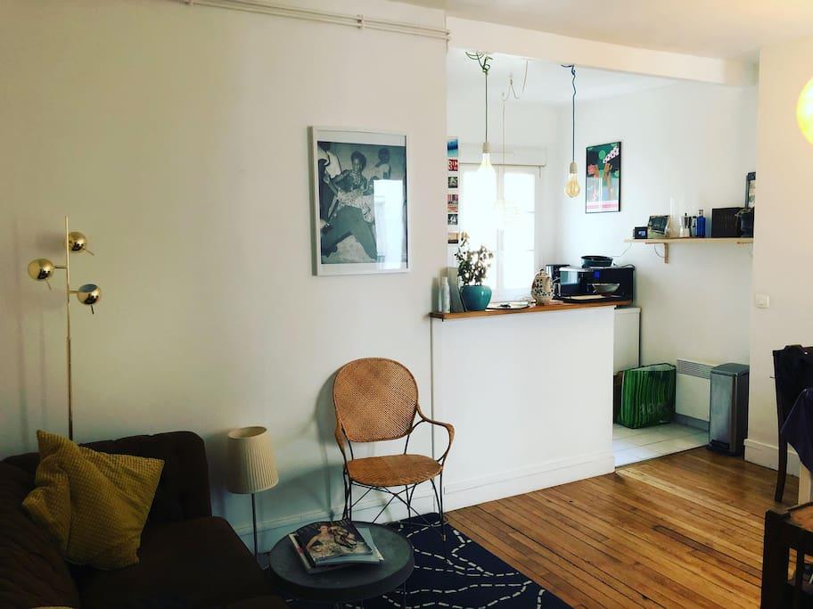 Séjour & cuisine américaine - Living room & kitchen