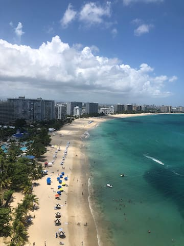 Isla Verde Beach View from the rooftop pool