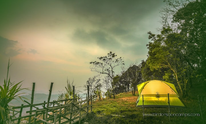 Amazing Valley View Mountain Top Tent Campsite
