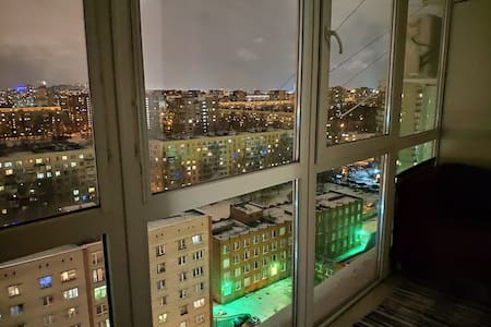 Просторная  квартира с лоджией и панорамным видом