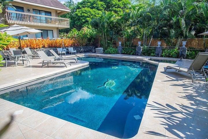 Hawaiian Hale at Gates Beach with a heated pool