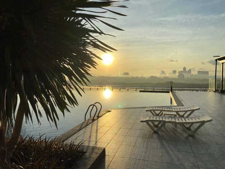 29F Resort Facility Seaview 4~6Pax Enjoyable condo