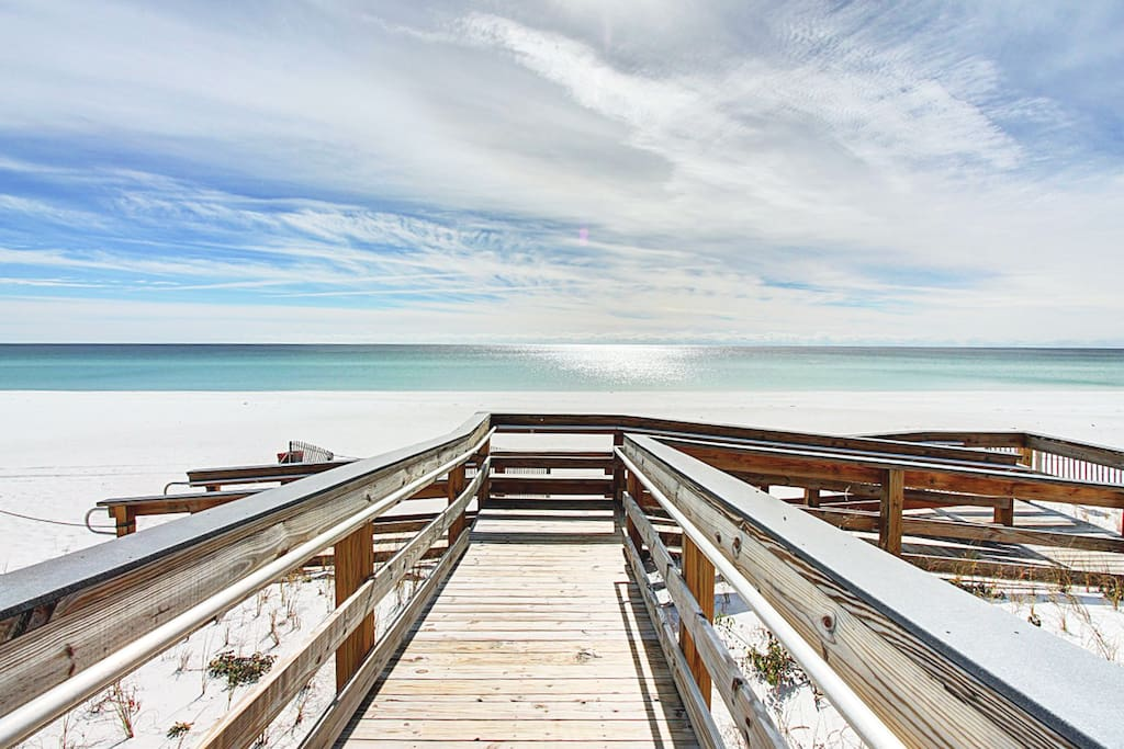 Take the Shuttle to Gorgeous Crystal Beach!