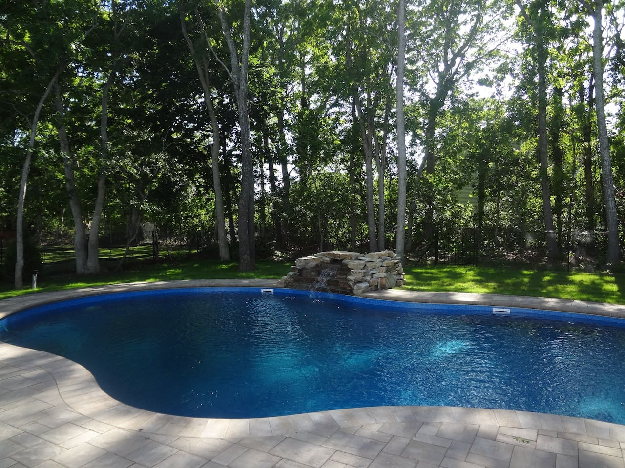 Blissful pool in tranquil setting