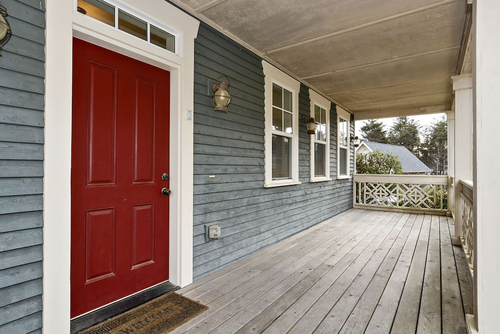 Front porch and entrance to home