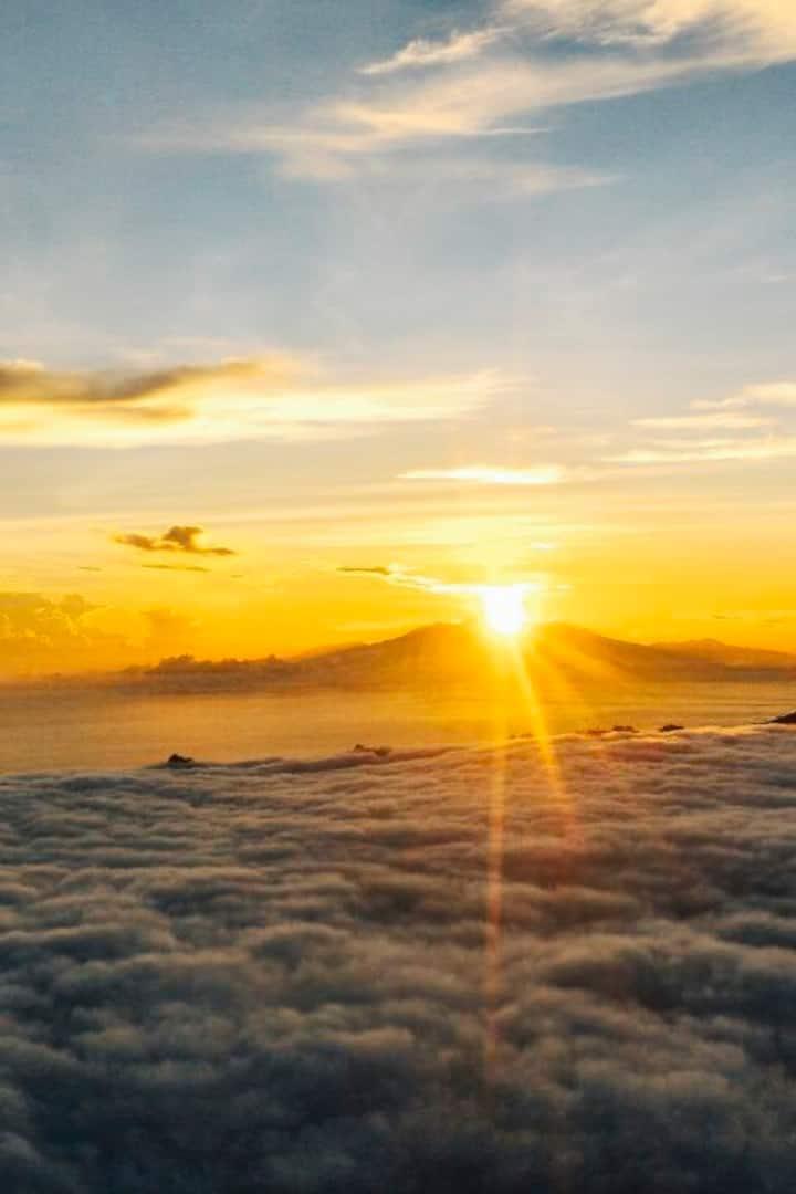 Sunrise from top of Mt. Batur