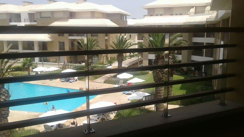 Bel appartement vue sur mer piscine - Sidi Bouknadel - Apartment