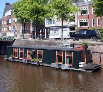 Charming little houseboat in center - Groningen - Boot