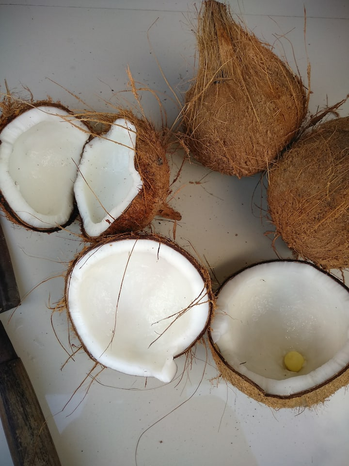 Crack open the coconuts