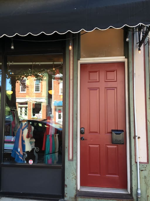 Our burgundy door welcomes you to The Newport Inn located at 634 Monmouth Street.
